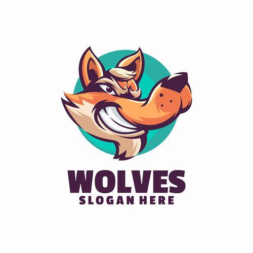 Wolves logo vector