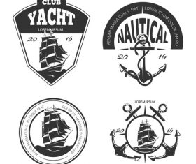 Yacht club emblem vector