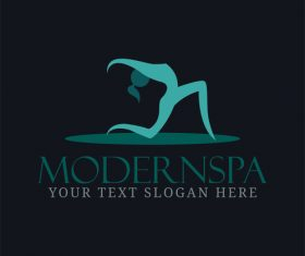 Yoga sport logo design vector