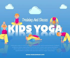Yoga training and classes vector