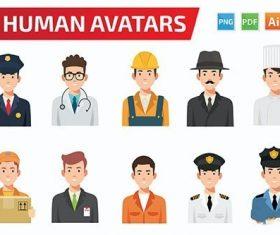 10 Avatar design vector