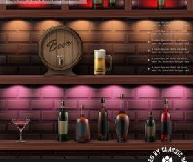 3d illustration pub bar vector