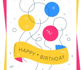 Abstract birthday illustration vector