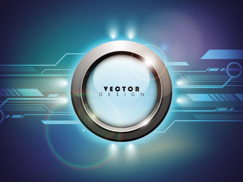 Abstract button background vector