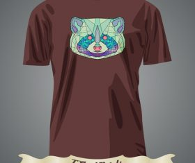 Abstract colorful animal head portrait t-shirts prints design vector
