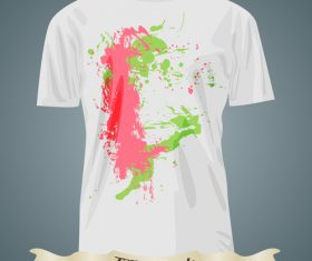Abstract colorful t-shirts prints design vector