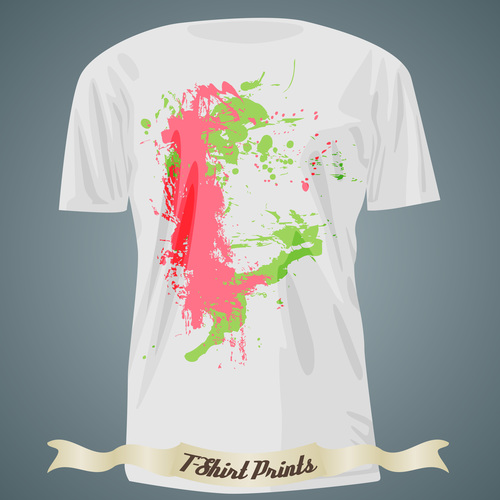 Abstract colorful t shirts prints design vector