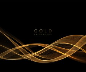 Abstract shiny golden wavy background vector