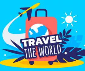 Abstract travel illustration vector