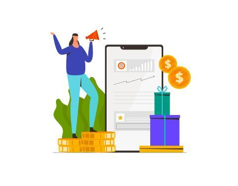 Affiliate marketing illustration vector