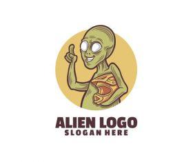 Alien logo template vector