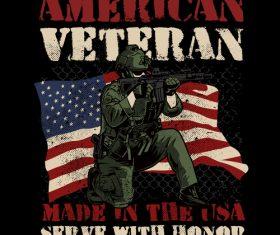 American veterans vector
