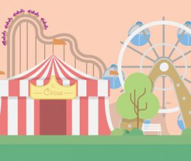 Amusement park illustration background vector