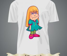 Angry girl t-shirts prints design vector