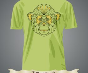 Animal T-Shirts prints design vector