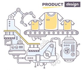 Apparel production design business concept vector