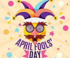 April 1 fools day cartoon vector