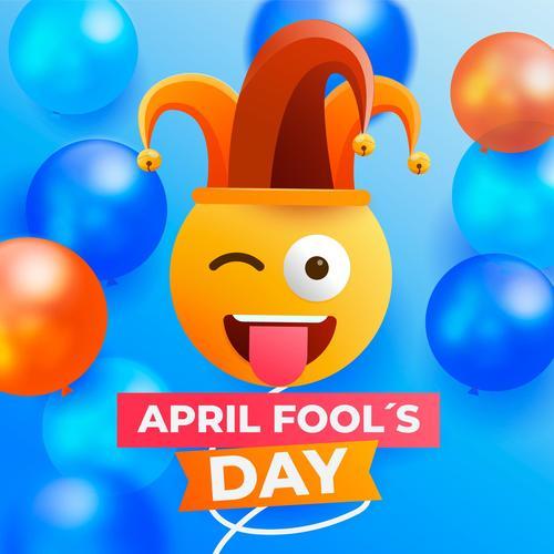 April fools day cartoon vector