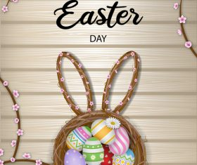 Art background easter illustration vector