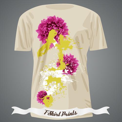 Art pattern t shirts prints design vector