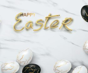 Artistic black and white striped easter egg vector
