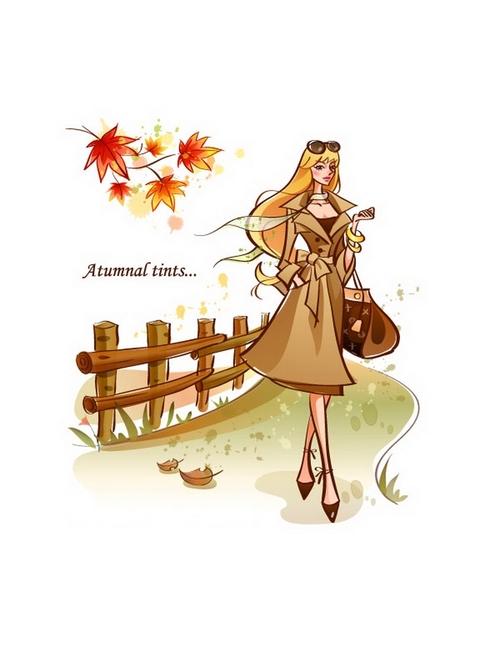Autumn tints illustration vector