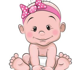 Baby cartoon illustration vector