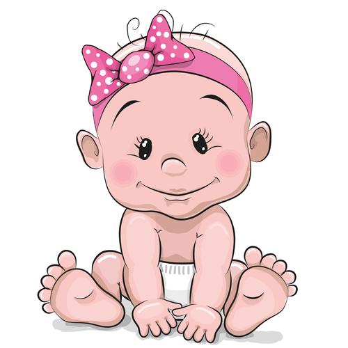 Baby cartoon illustration vector