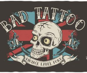 Bad tattoo illustration vector