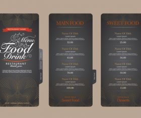 Bakery menu card vector