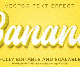 Banana vector text effect