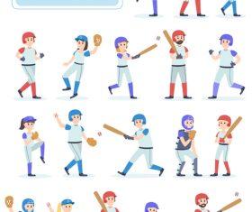 Baseball character vector