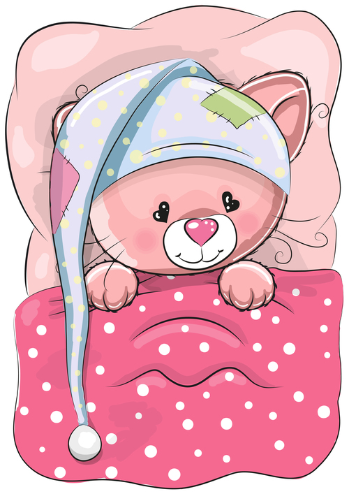 Bear baby cartoon illustration vector