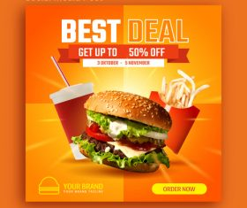 Best deal promotion social media post vector