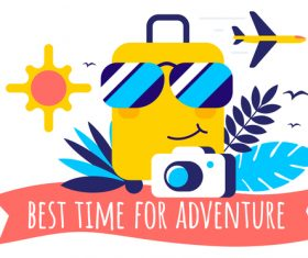 Best time for adventure illustration vector
