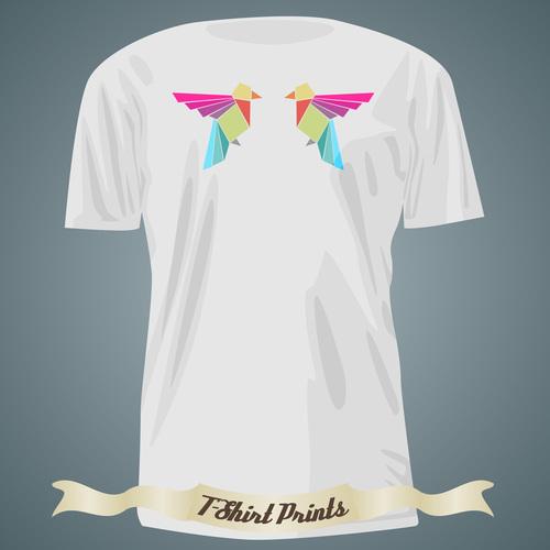 Bird pattern t shirts prints design vector