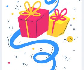 Birthday gift illustration vector