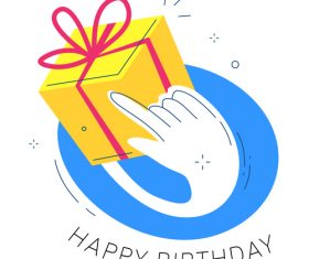 Birthday gift wanted illustration vector