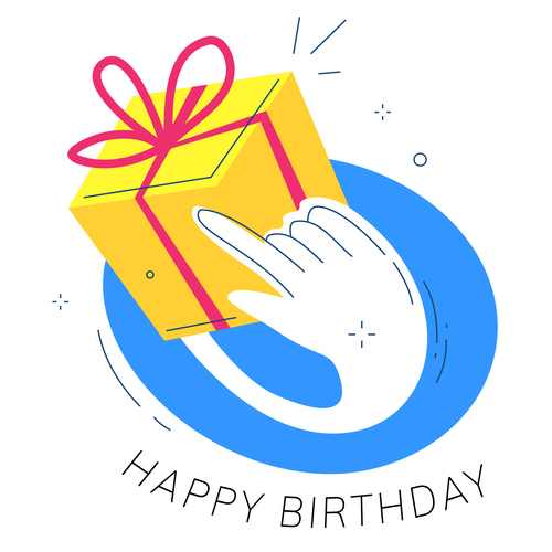 Birthday gift wanted illustration vector