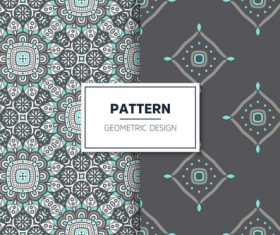 Black and blue mandala pattern seamless background design vector
