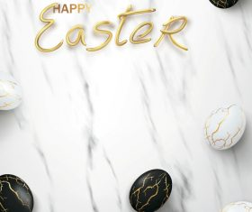 Black and white striped easter egg vector
