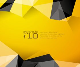 Black and yellow abstract geometric background vector