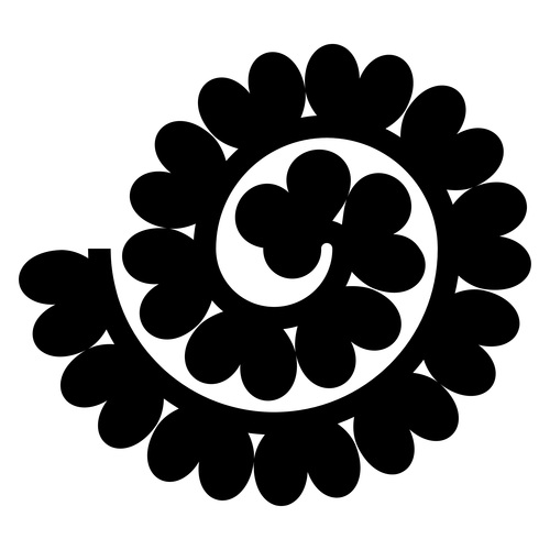 Black heart shaped rolled paper vector