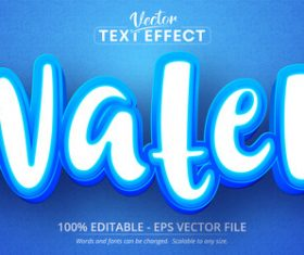 Blue and white editable text effect vector