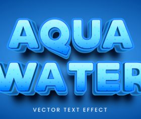 Blue editable font text design vector