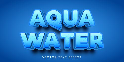 Blue editable font text design vector