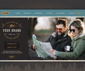 Brand homepage design vector