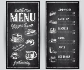Breakfast menu card vector