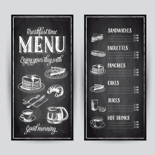 Breakfast menu card vector