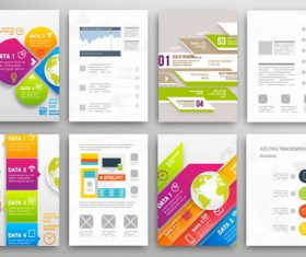 Brochure double-sided template design vector